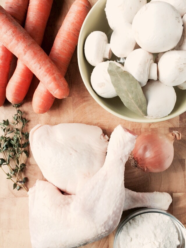 Ingredienten slowcooker romige kippensoep