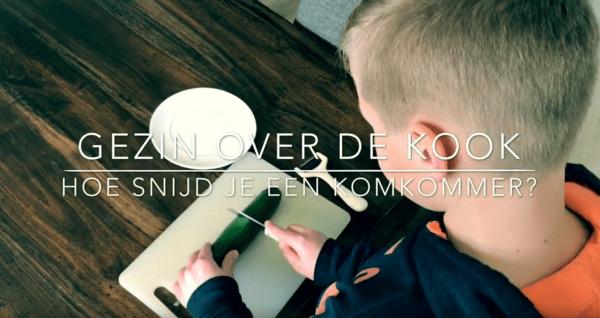 Komkommer snijden video